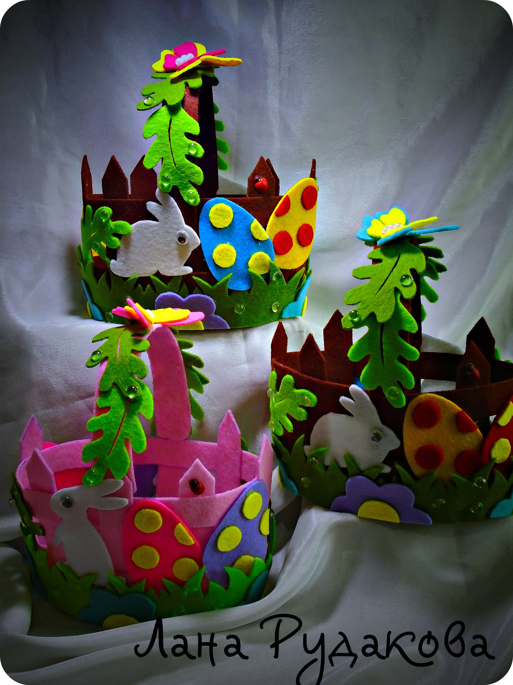 подарок декор праздник фетр детям пасха корзинка