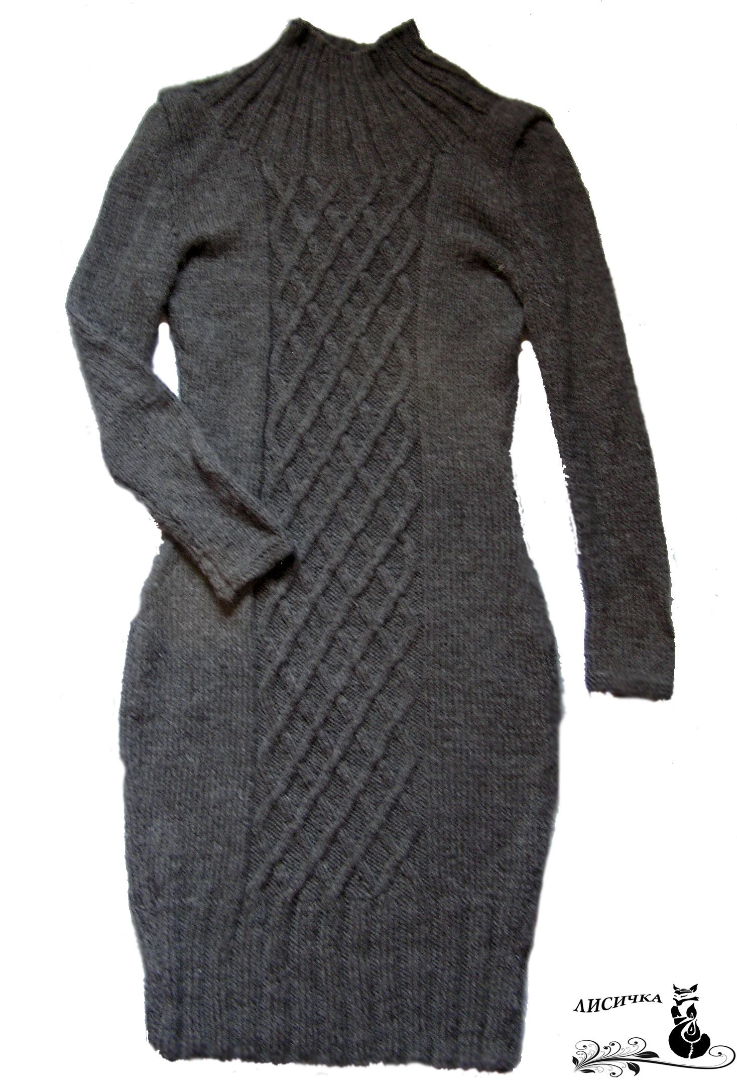 платьевязаное шерстяноеплатье зимнееплатье платьешерстяное платьескосами платьеназаказ зимняяодежда зимняямода платьеспицами платье