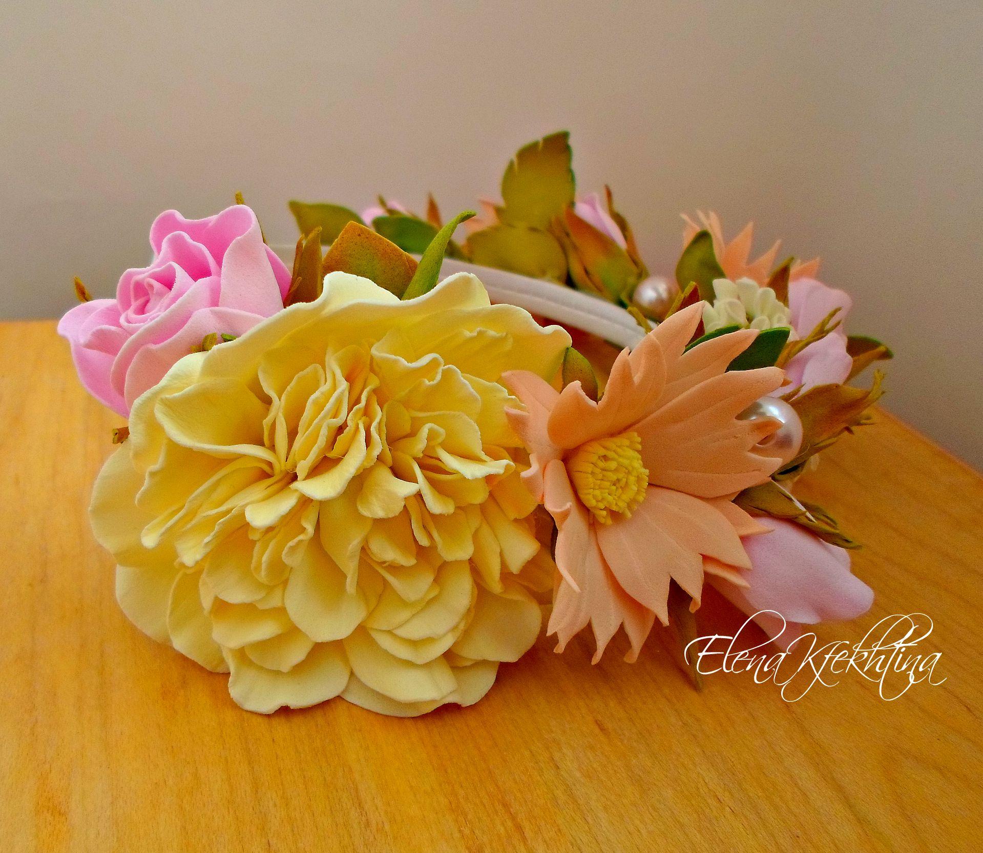 пластичная шебби девичник невесты клевер замша шик подружка фоамиран свадьба розы бохо подарок