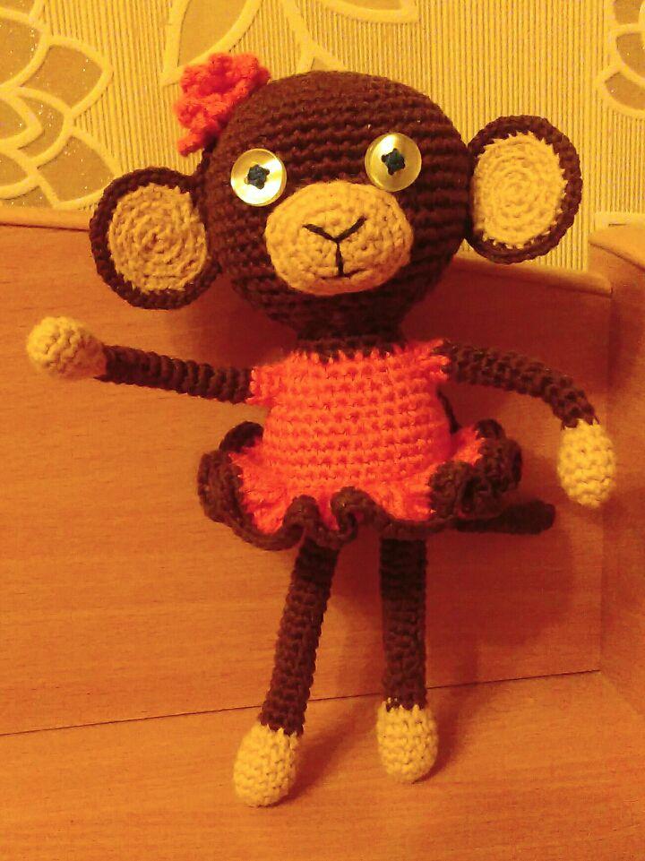 вязаниекрючком вязаныеигрушки вязаниеназаказ обезьянка