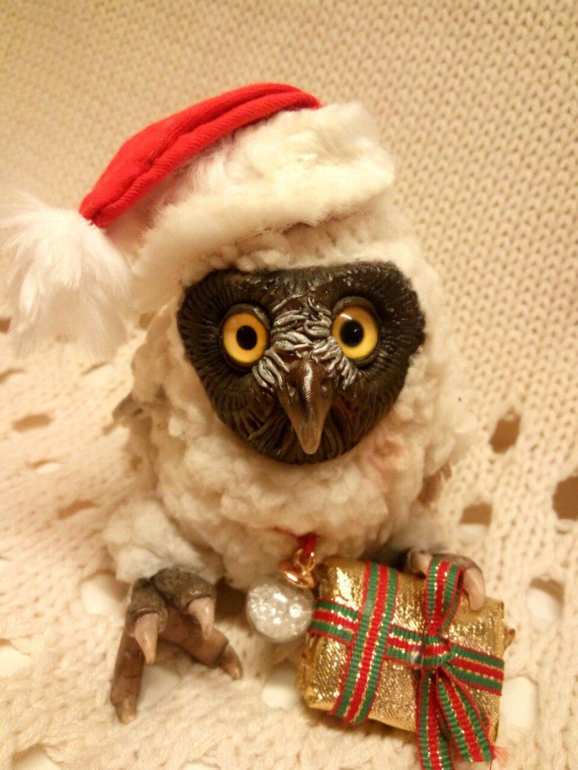 owl artdoll handmade сова