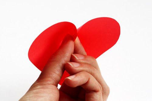 Сердечки из бумаги 4