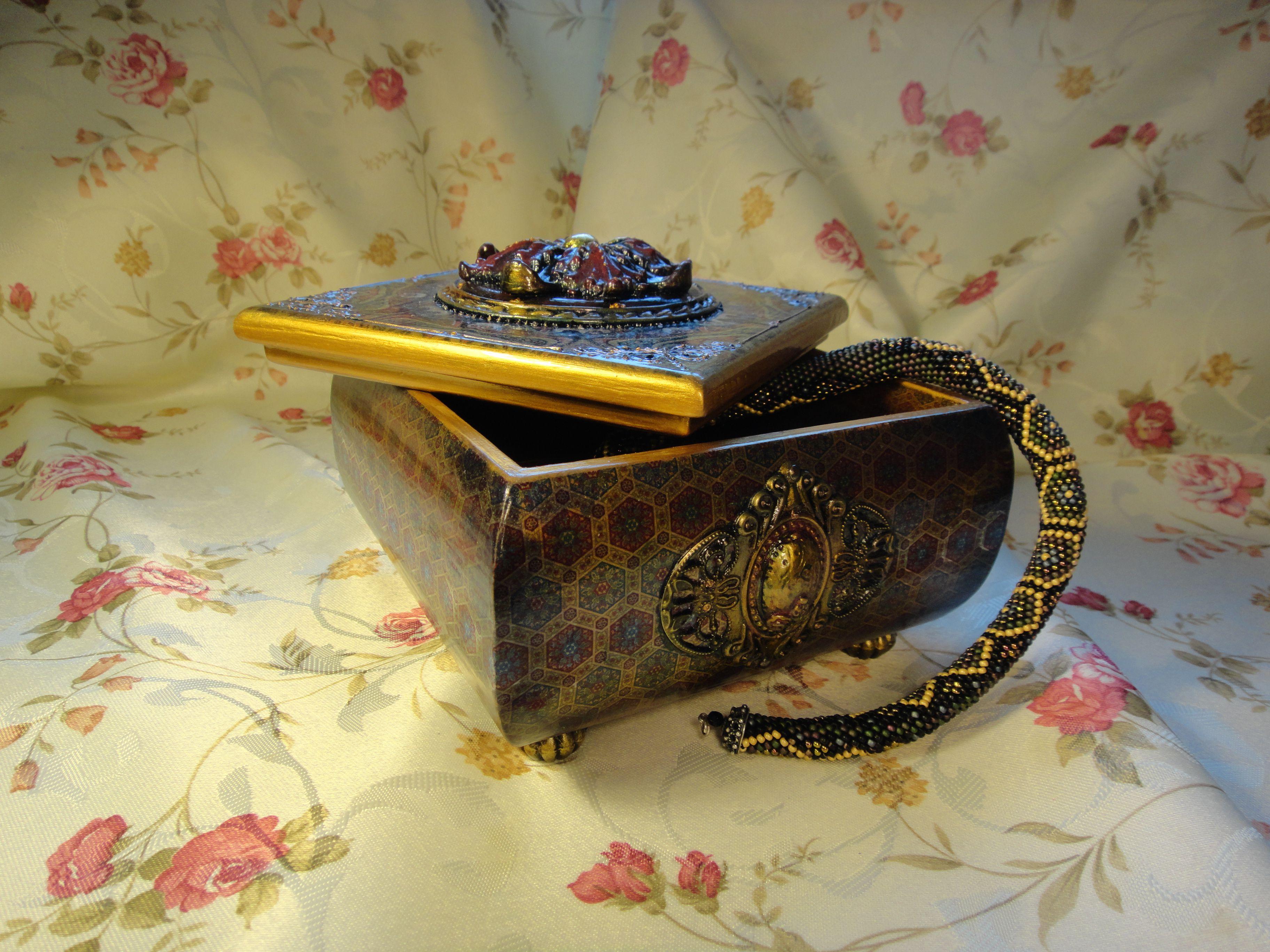 подарок шкатулка декупаж деревянная девушке