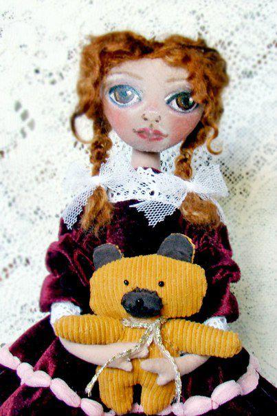 коллекционная декоративная интерьерная авторская работы ручной декор домашний ткани уникальный кукла текстильная подарок