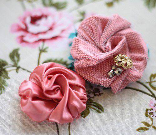мастеркласс украшение брошь текстиль из ткани цветок
