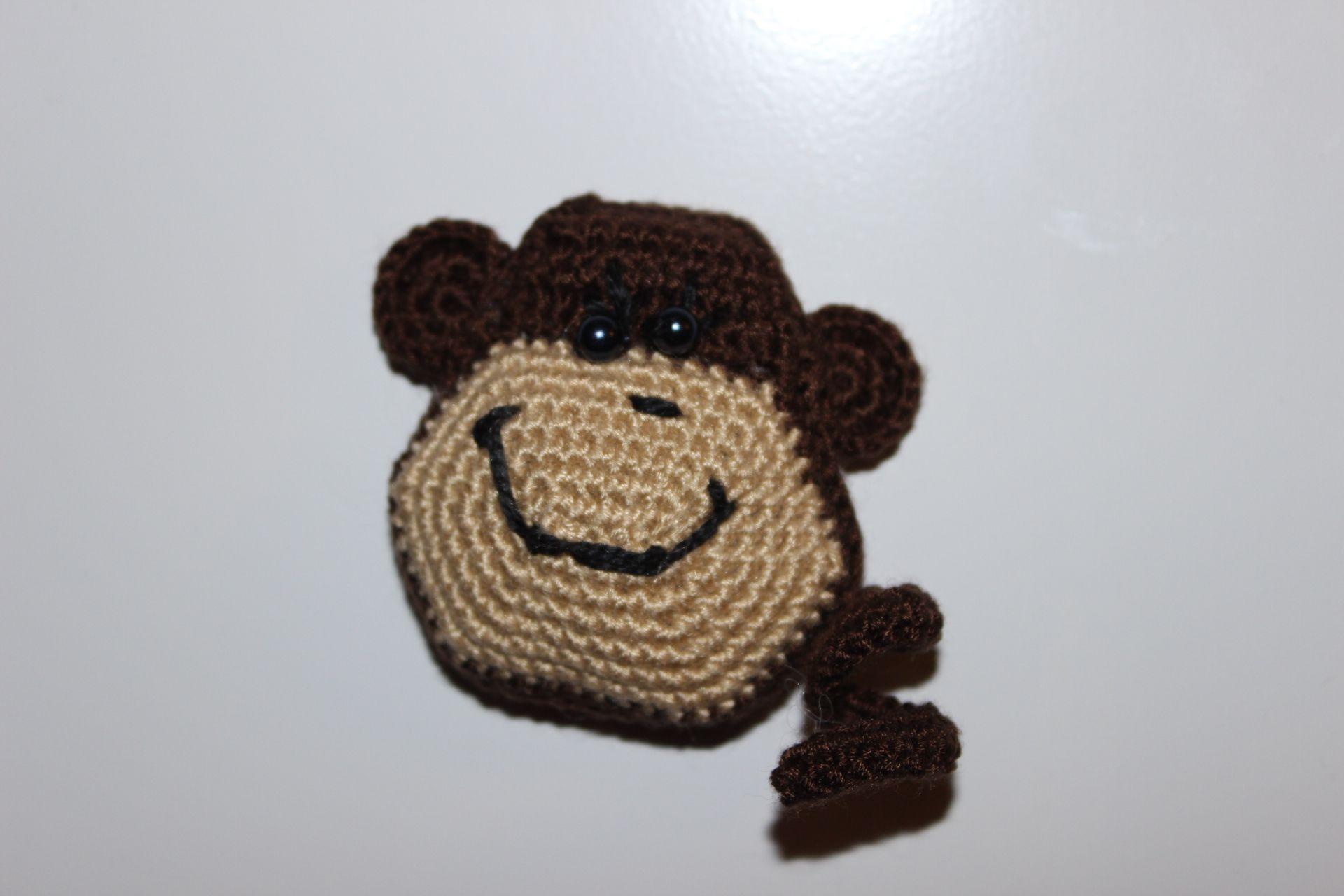 холодильник вязание обезьянка магнит