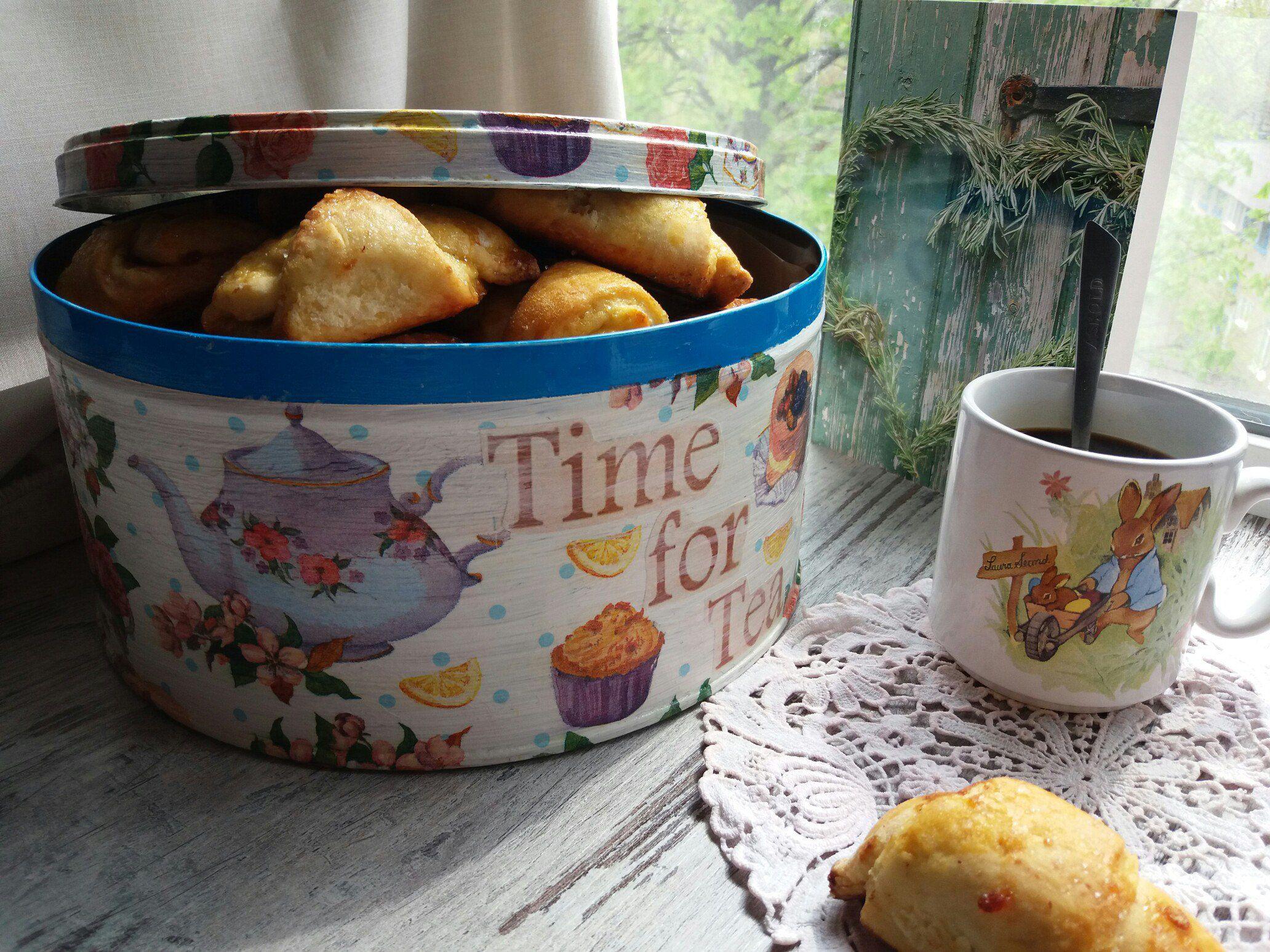 коробка жестяная сладости декупаж печенье