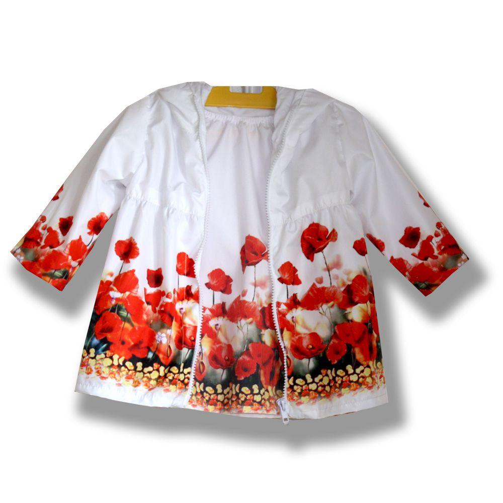 маки подарок цветочный комбинированный комплект платье дождевик фотопринт изысканный плащ стильный белый нарядный принт девочке сублимация