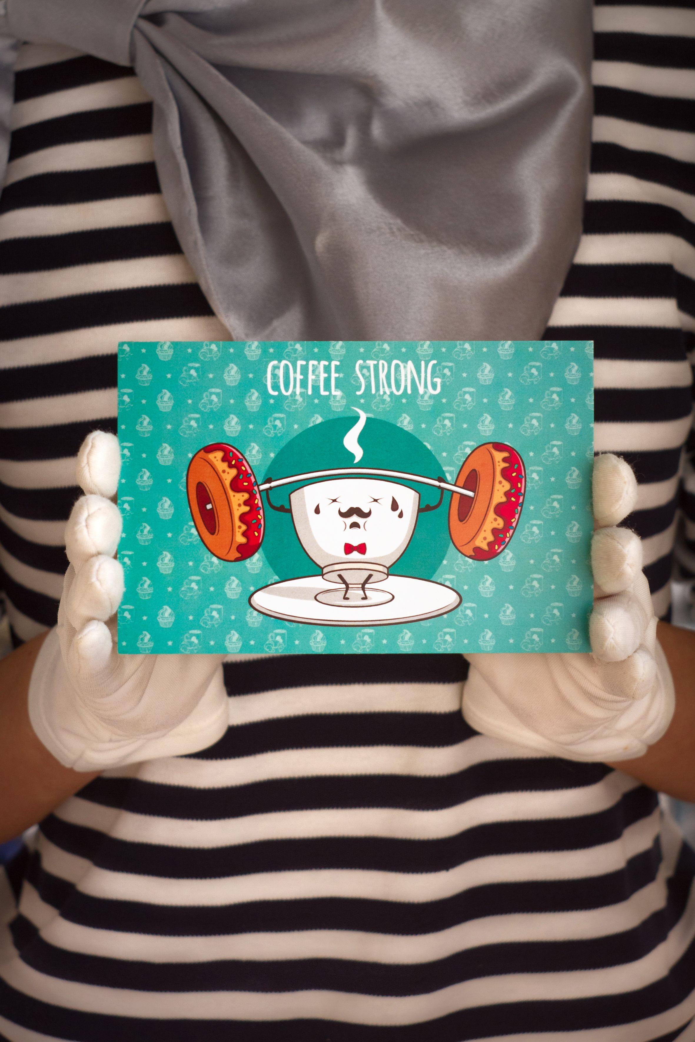 подарок кофе coffestrong крепкийкофе знаквнимания сюрприз открытка
