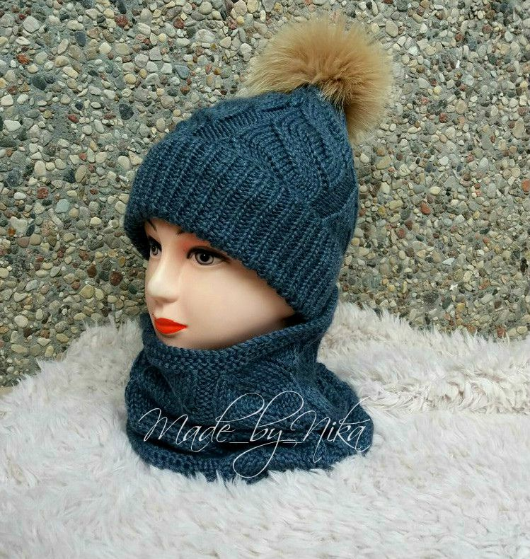 спомпоном длядетей снуд вязание комплект шапка аксессуары головныеуборы назаказ длядевочки