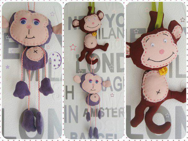 ручнаяработа радость символ2016 дети любовь новыйгод сувенир handmade праздники игрушка подарок обезьянка