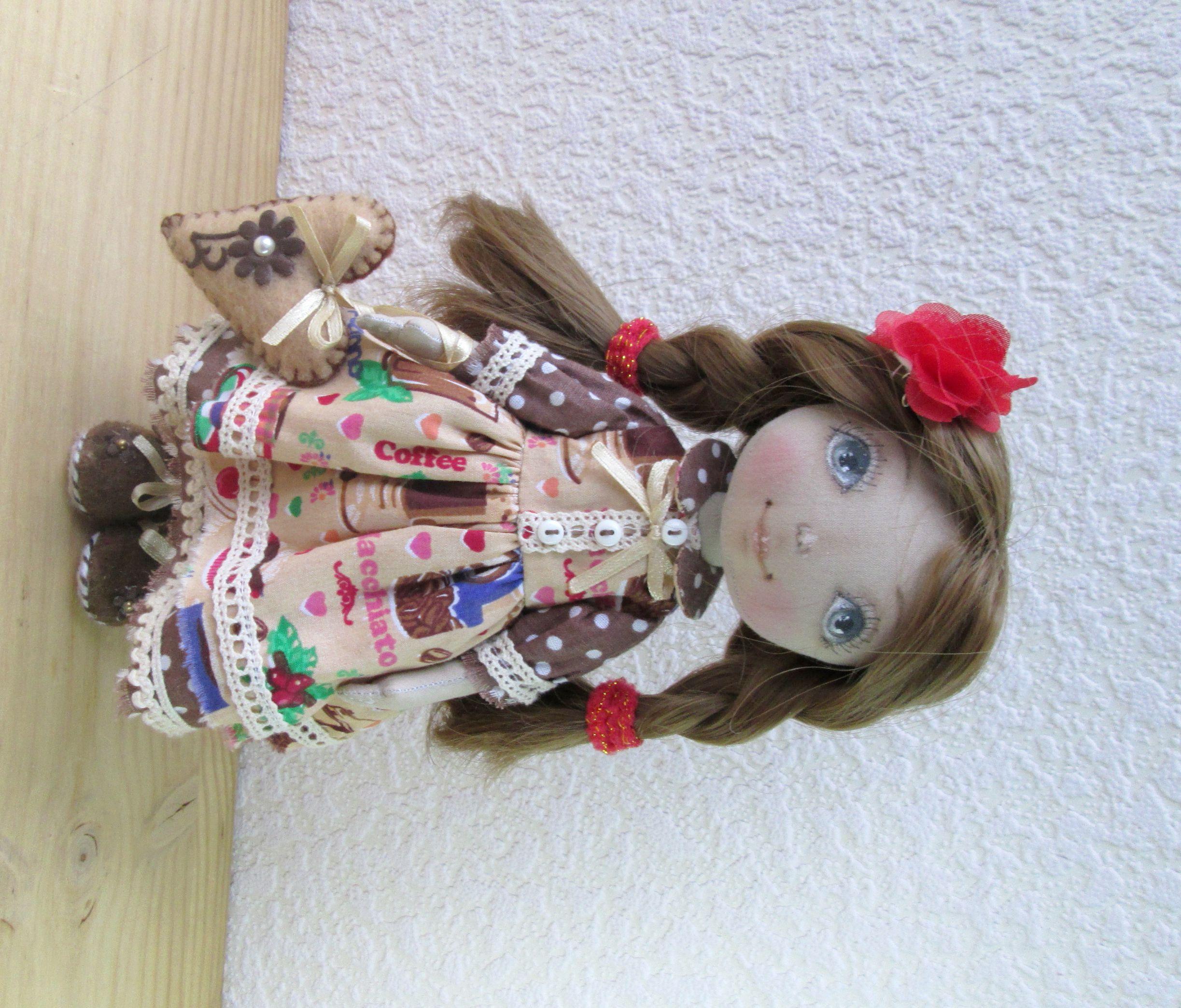 интерьерная игрушка кукла ручной работы подарок в текстильная девочке