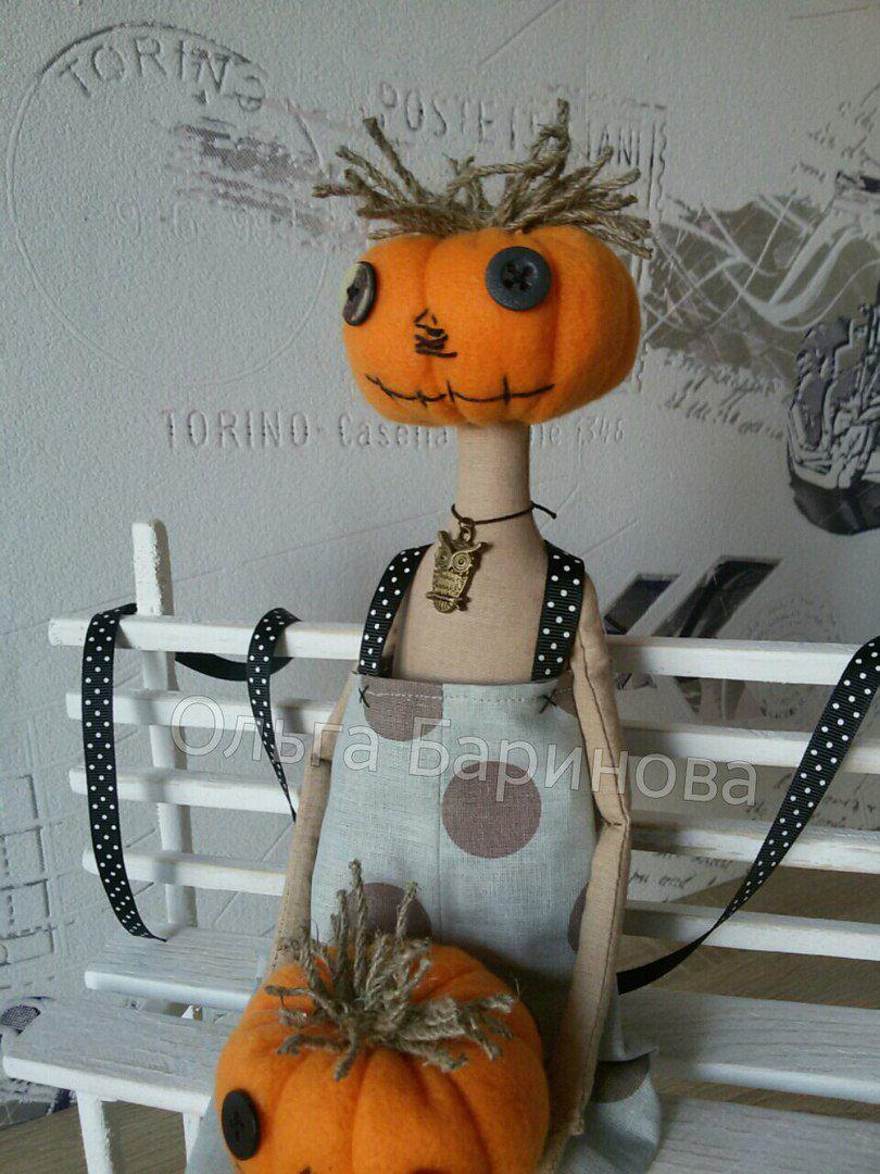 своими текстильная взрослый тыква хеллоуин праздник кукла ребенок сова подарок руками