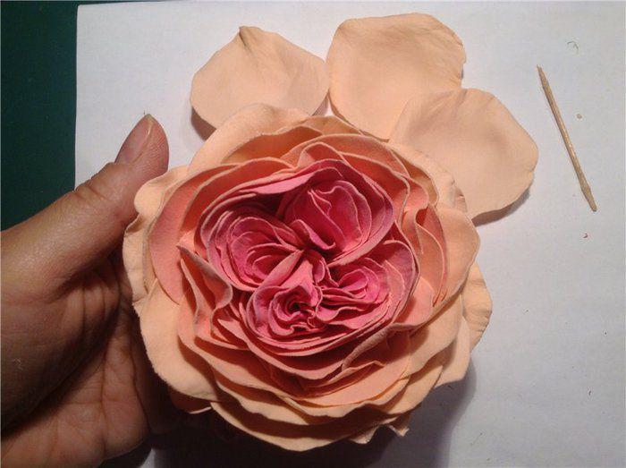 Роза из фоамирана мастер класс 21