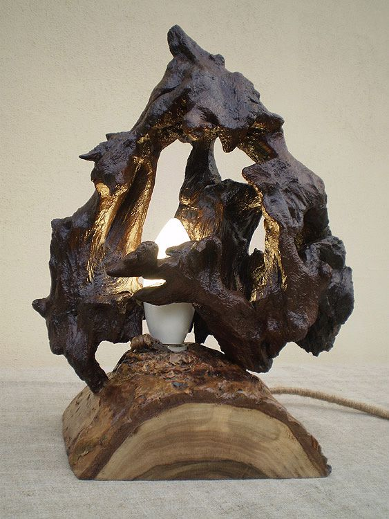 работы ручной дерева лампа светильник ночник led ручная декор работа подарок интерьера из