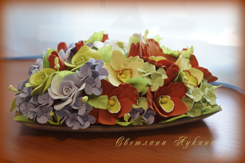 из композиция цветочная craft букеты deco clay японской глины