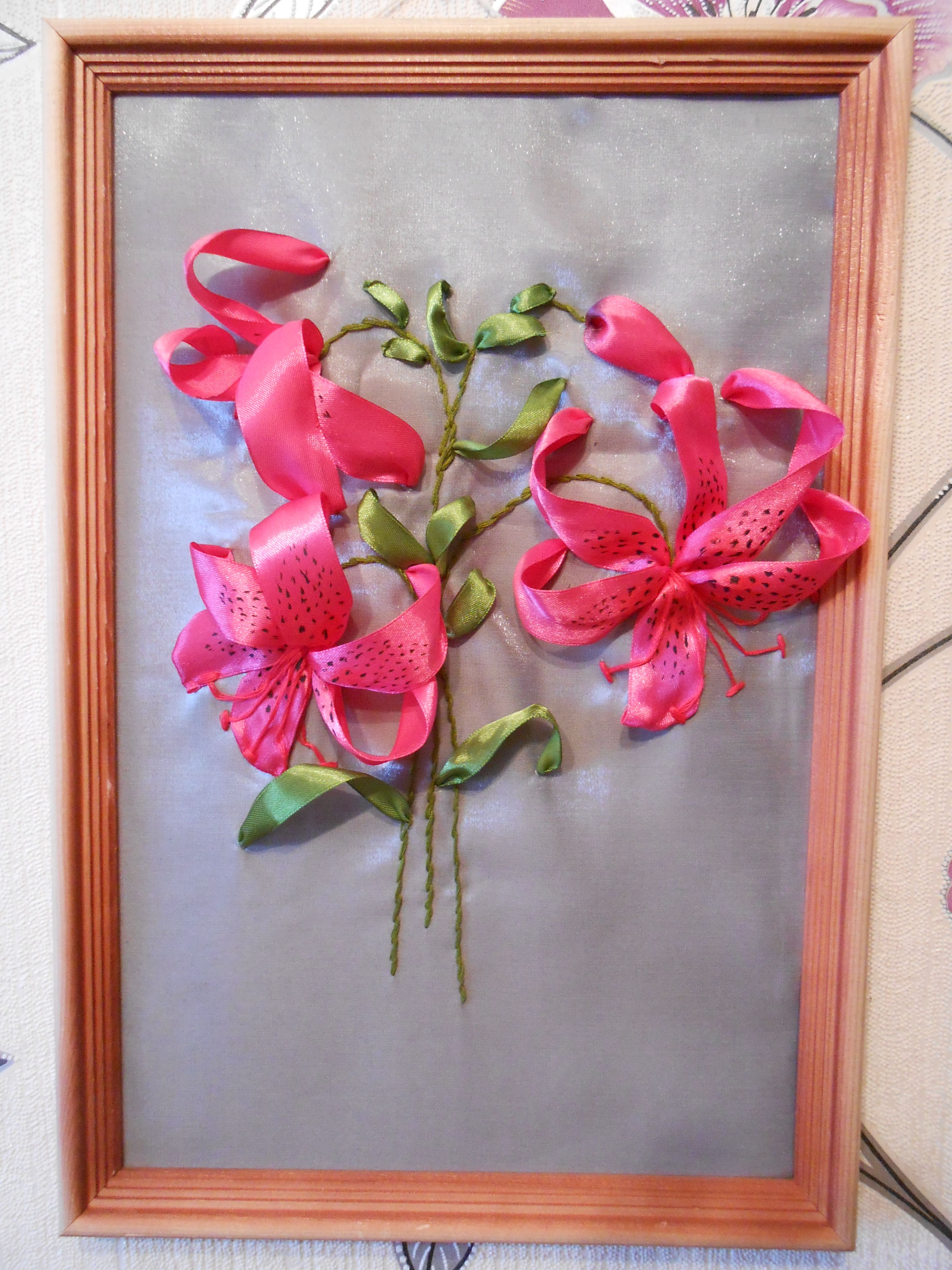 вышивкалентами панно ручнаяработа картина подарок