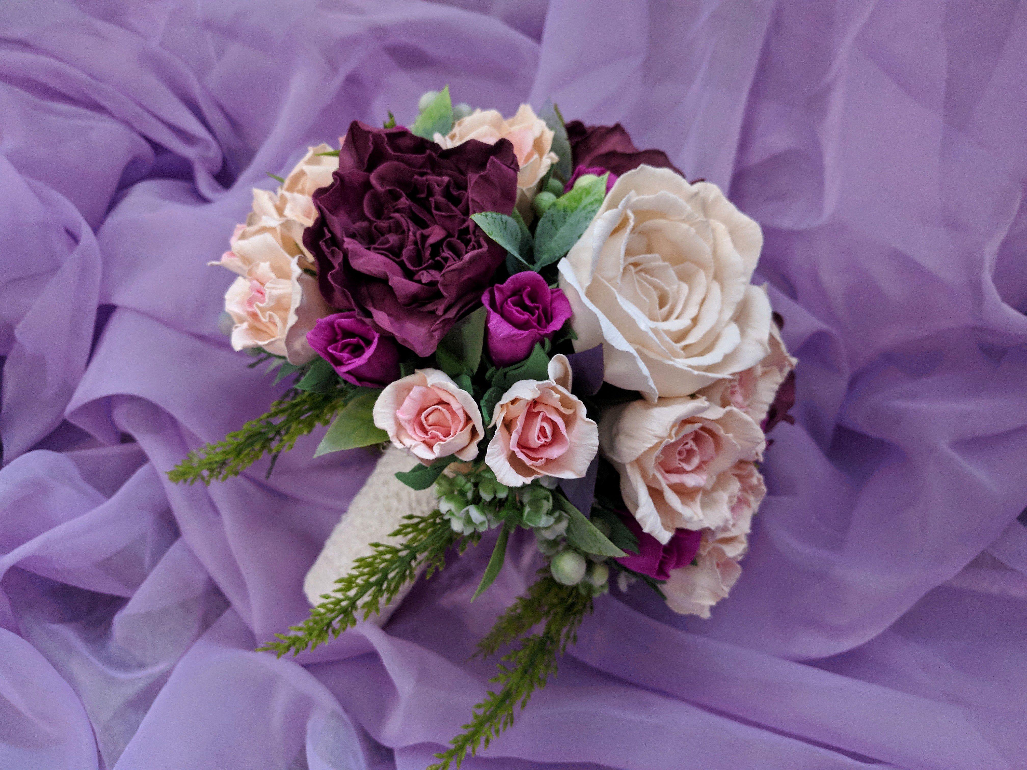 свадьба букетцветов невеста фоамиран букетневесты