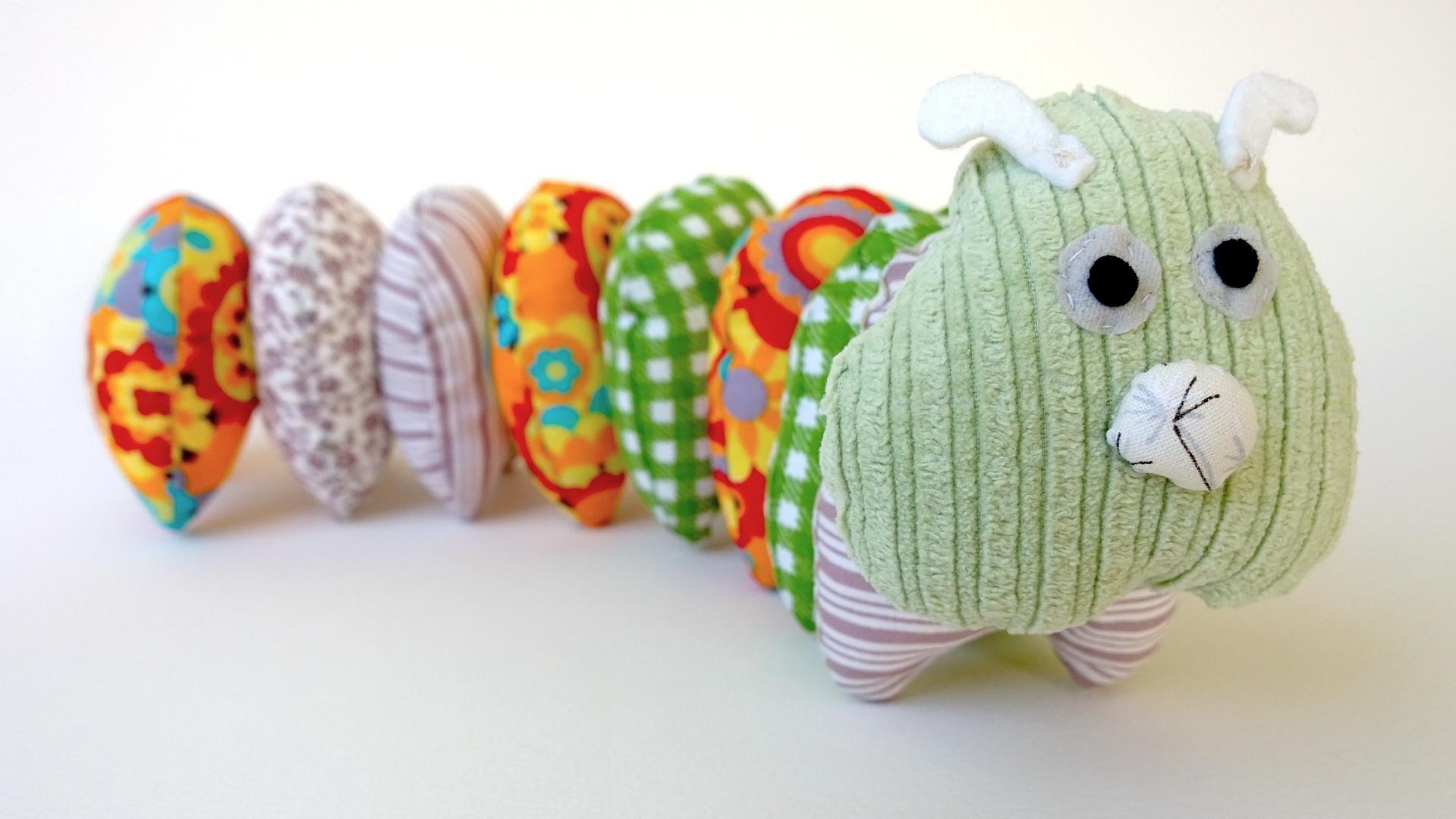 гусеница малышей игрушка ручная для работа подарок