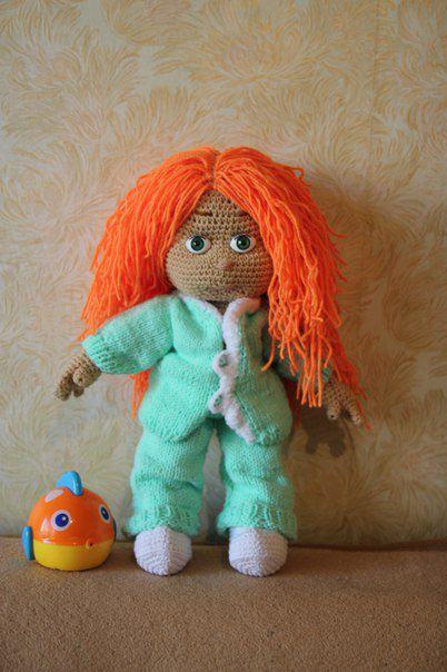 кукла ручная работа нитки