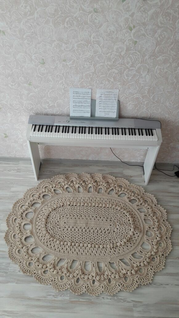 вязаные ковры коврики интерьер handmade винтаж