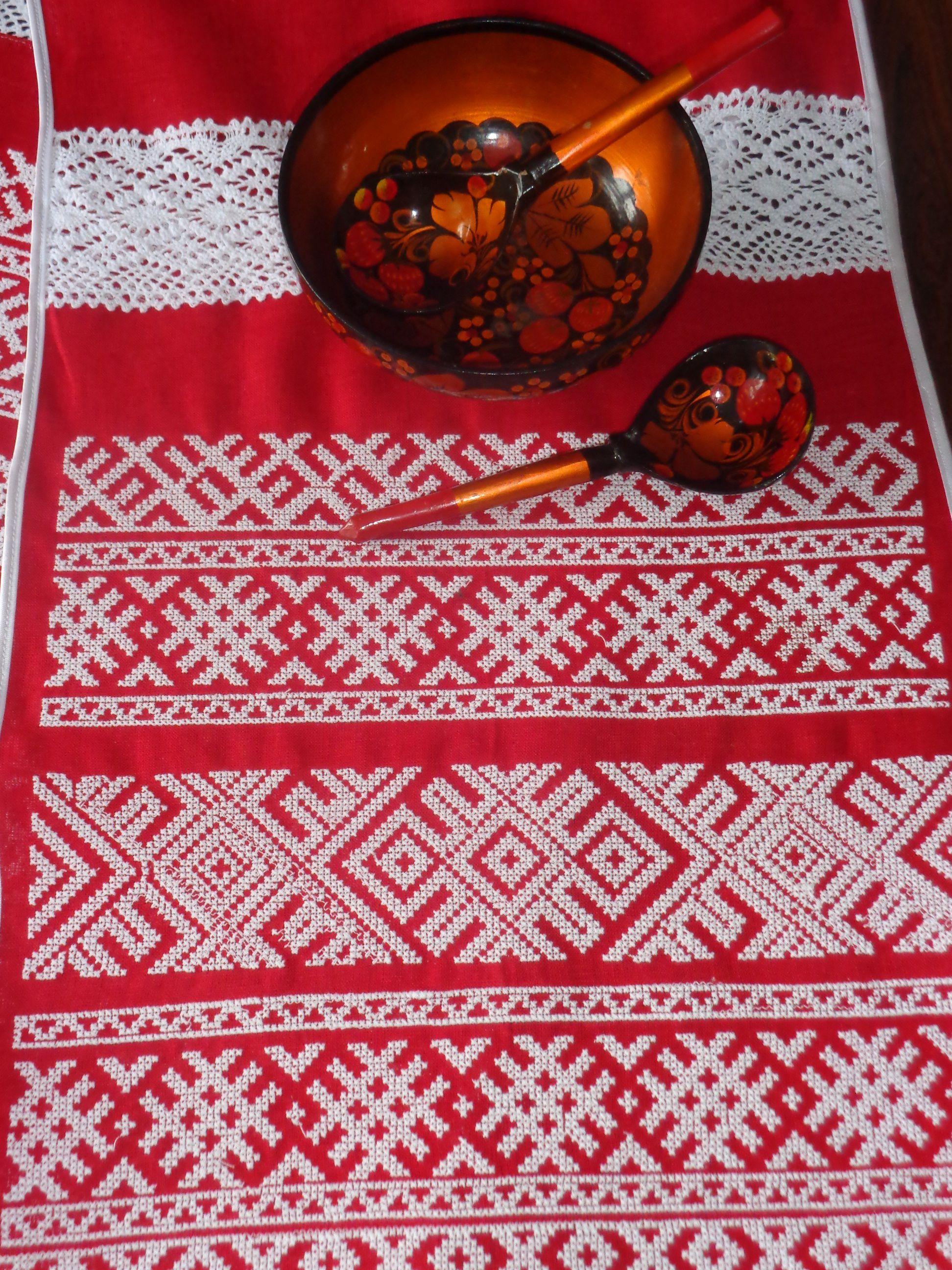 полотенце рушник вышитое свадебный узор русский свадьба