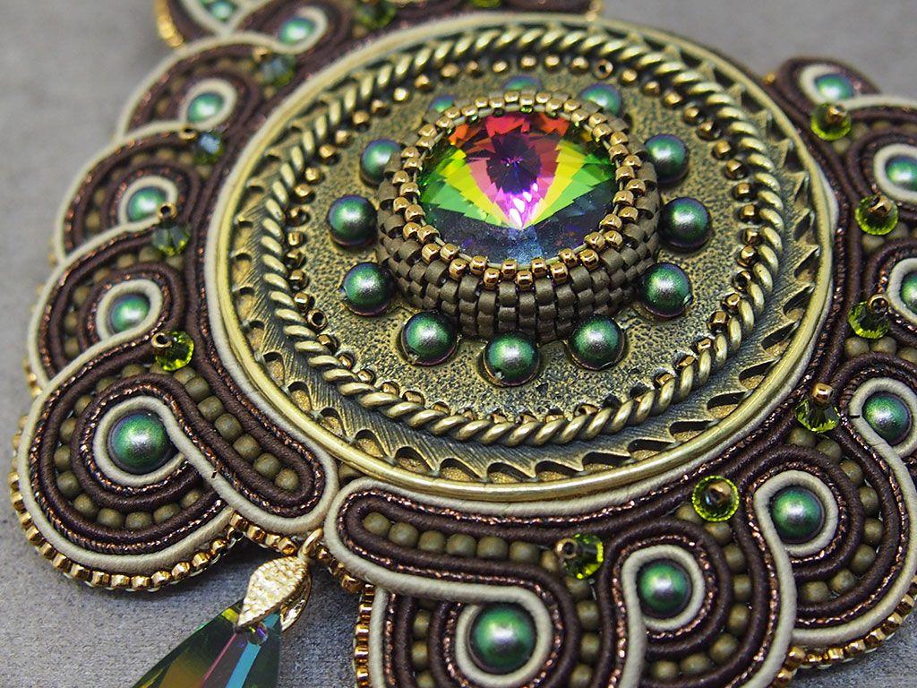 бижутерия сутажная стимпанк вышивка шею украшение сутаж подарок сутажное колье