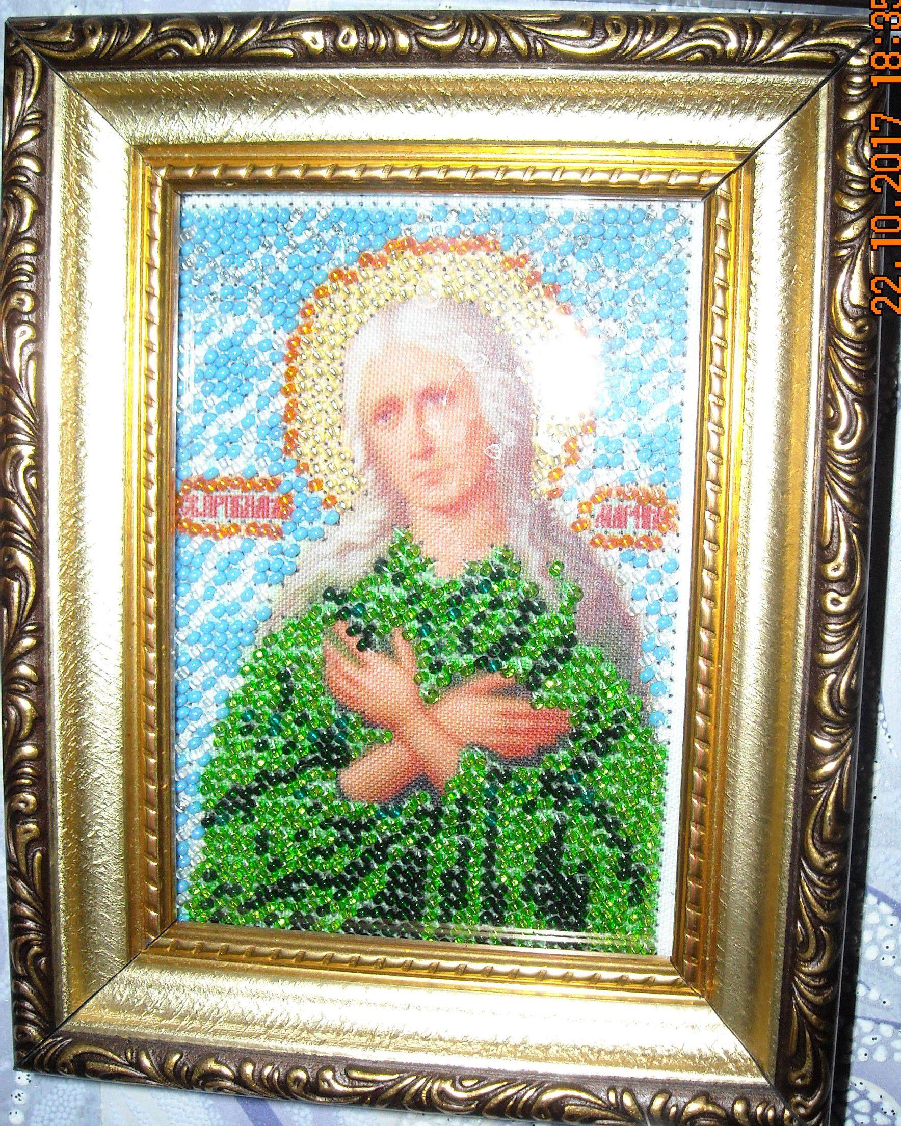 мария бисером икона египетская святая