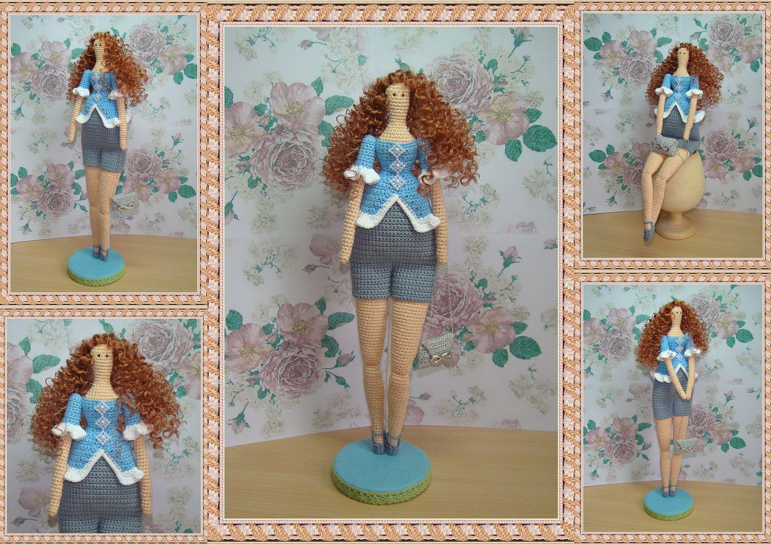 интерьерная авторская игрушка кукла вязание ручнаяработа handmade крючком