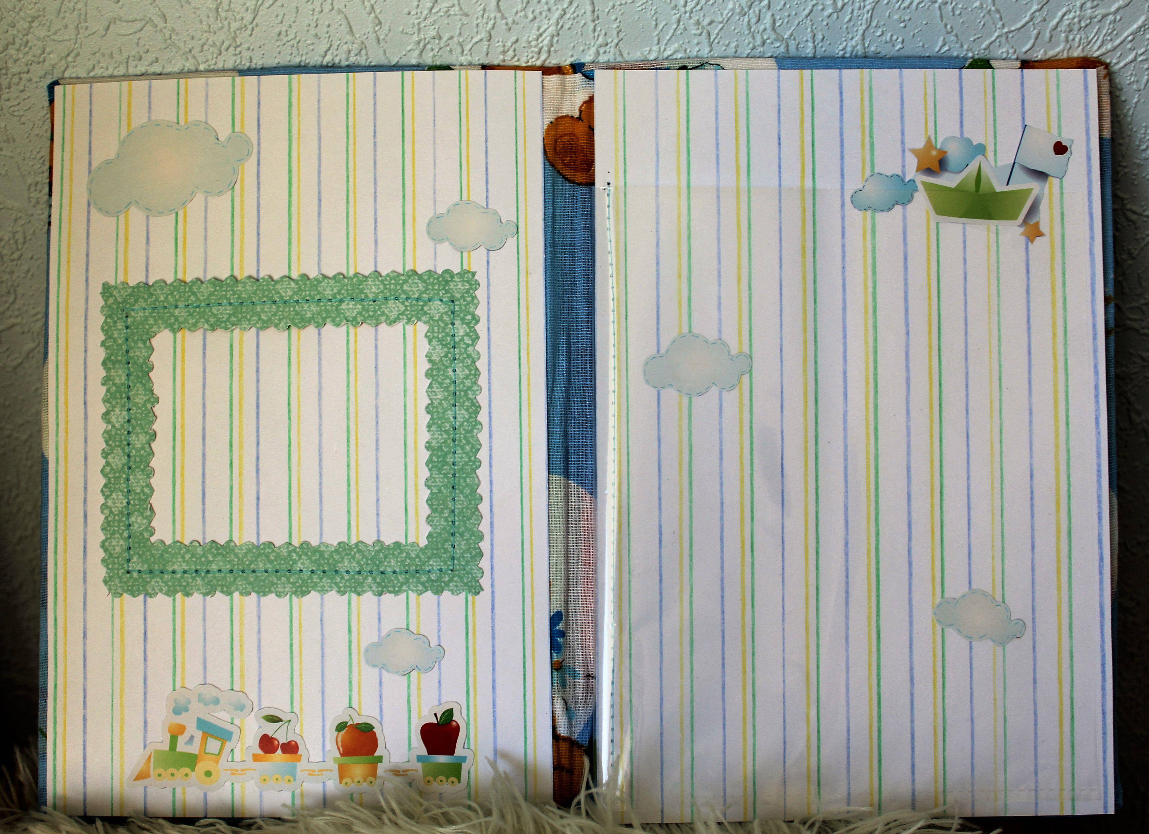 скрапбукинг работа папка ручная малыш мама детям handmade подарок мальчик