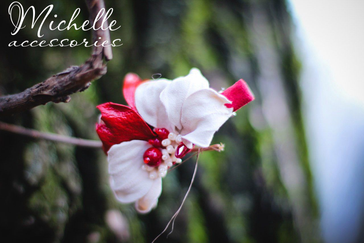 кожаная купитьподарок купитьзаколкудляволос волосы украшения заколка ручная авторская купить женская заколки кожа цветок подарок