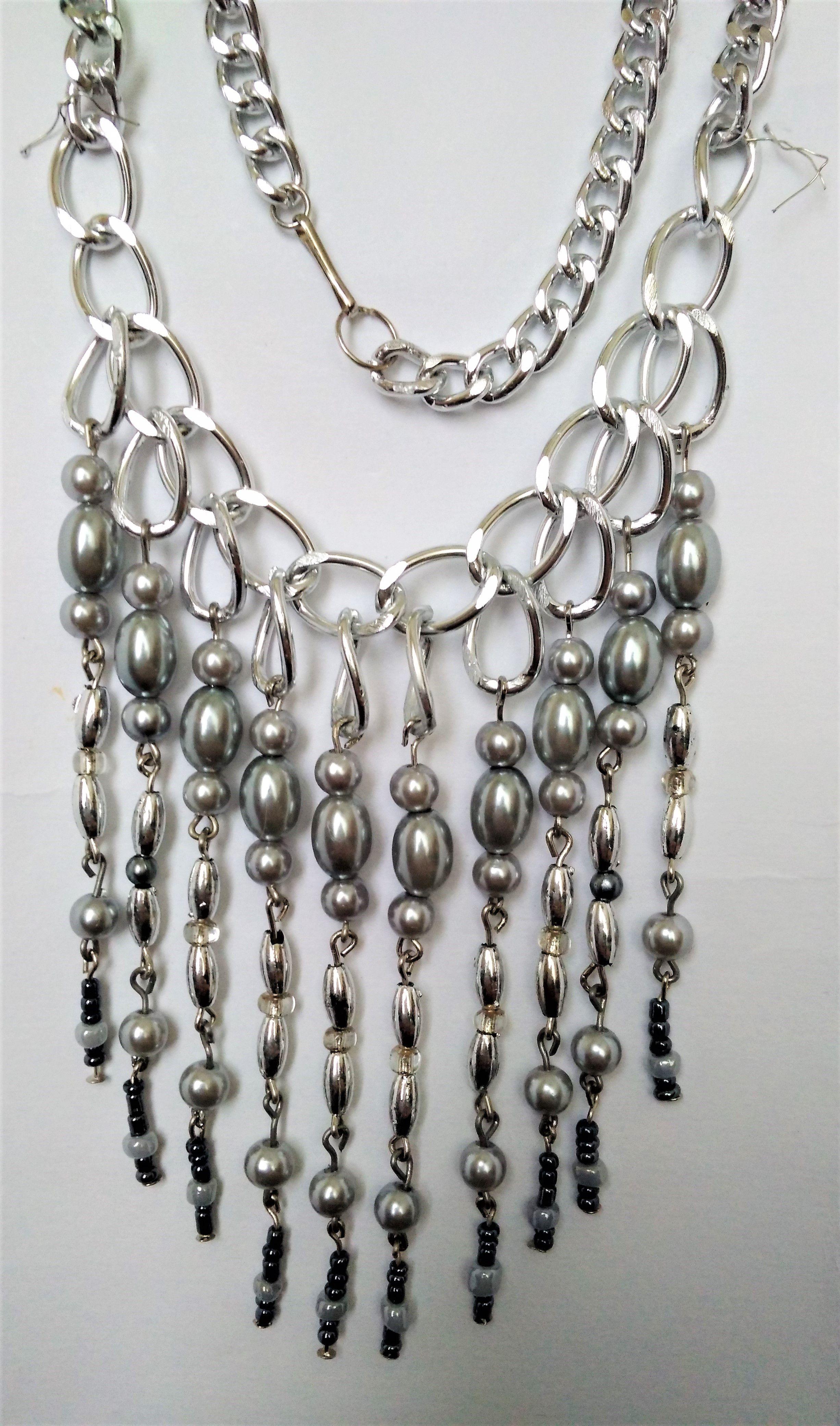 цепочка женщины подарок ожерелье бусины для серебристое девушки