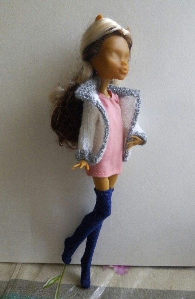 белая кофта кукла для свитер вязаная куклы монстерхай мх