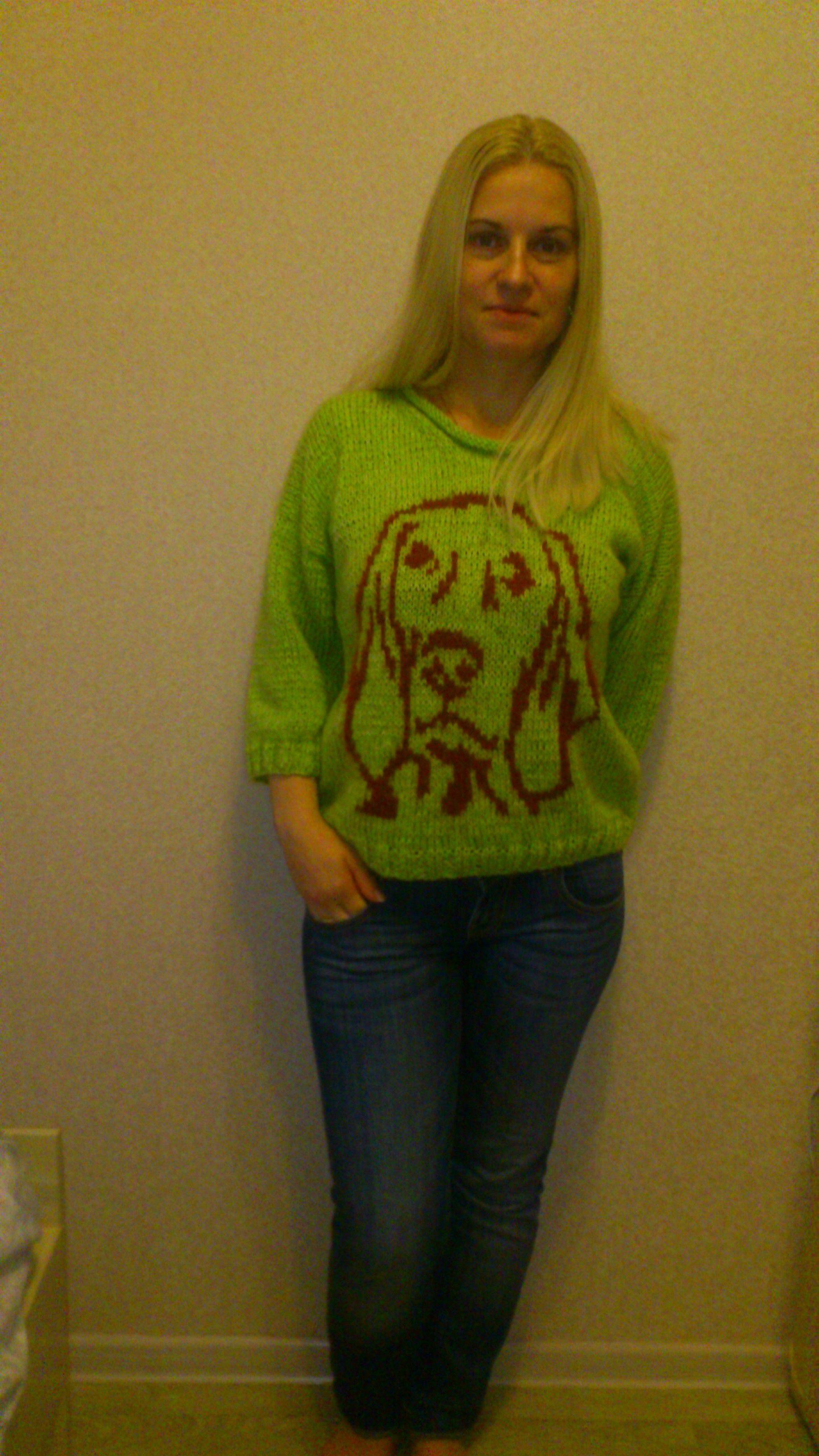 вязаный пуловер орнамент кофточка ангора