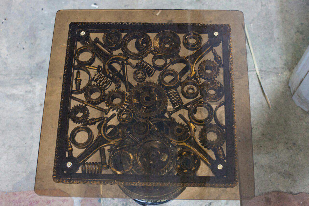 стол брутальный журнальный металлически