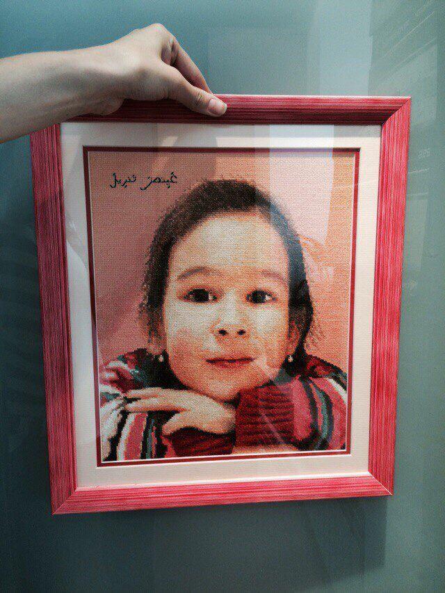 своимируками портрет портретпофото интерьер вышивка картина эксклюзив ручнаяработа