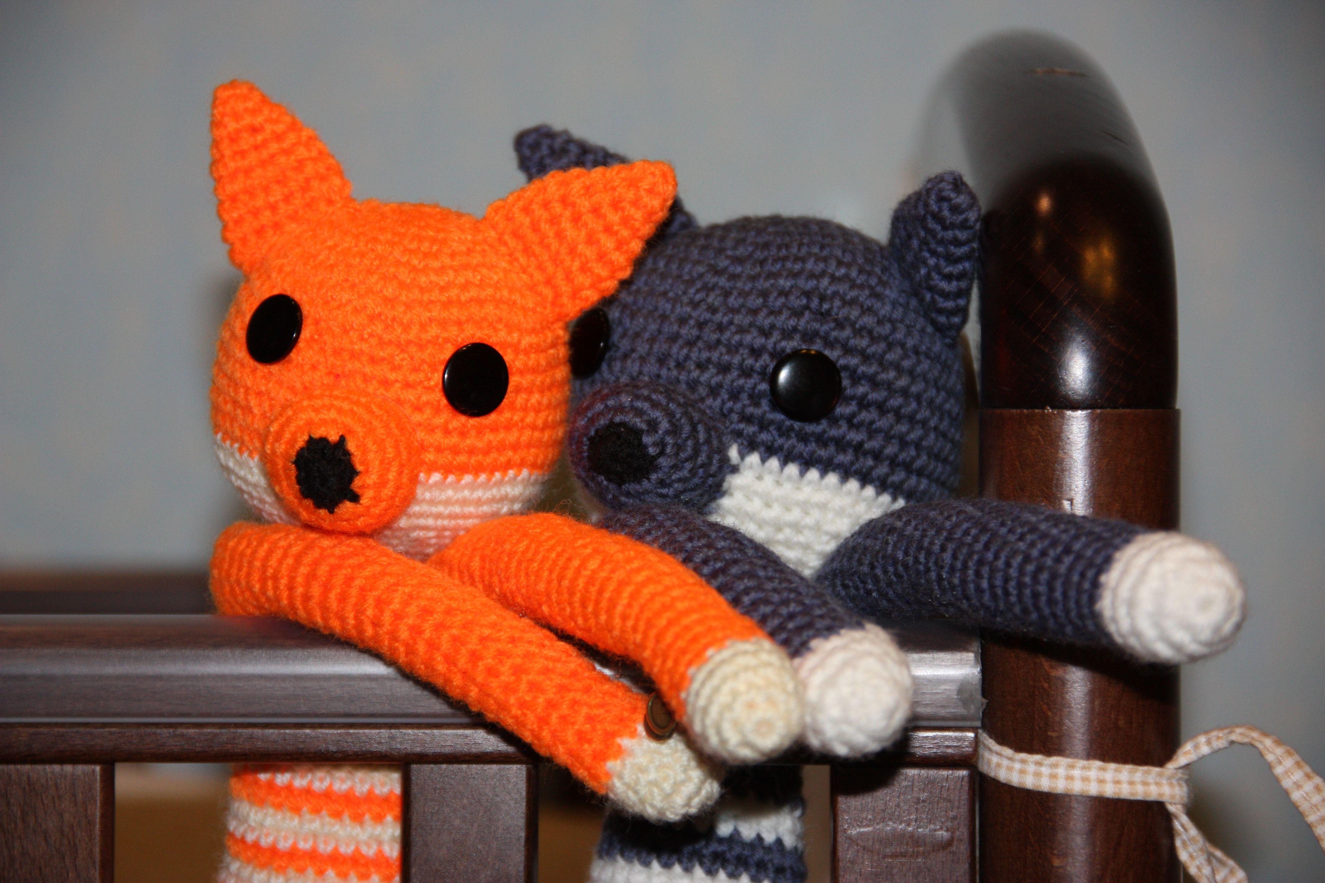 вязаный вязаные взрослых для лис игрушки детей длинноногий оранжевый