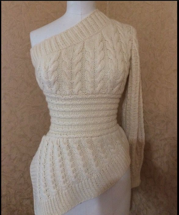 плечо ассиметричный одно свитер меринос