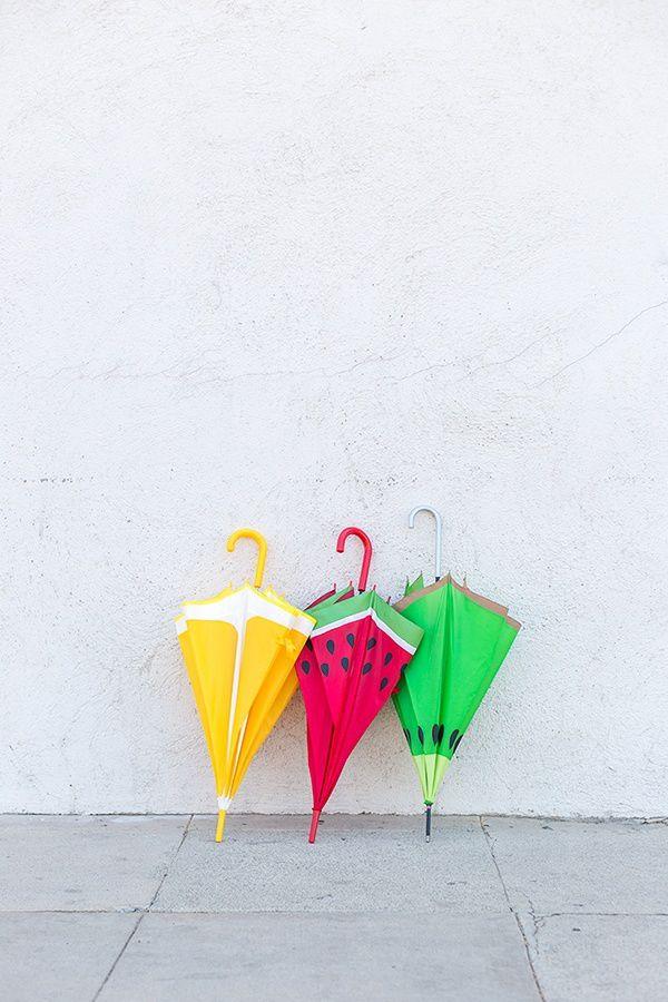 поделка осень ткань краска зонтик настроение