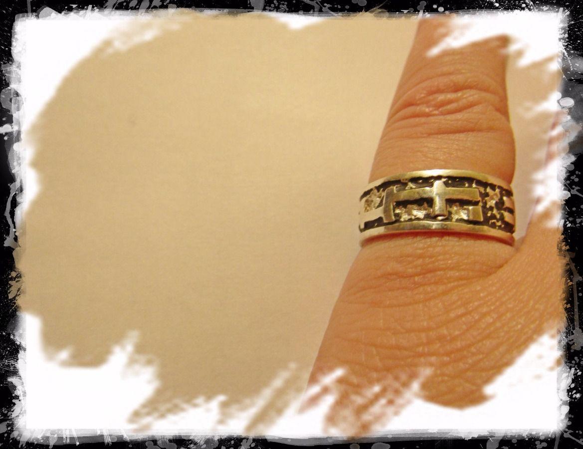 готика мизинец кольцо серебро черное рисунок подарок