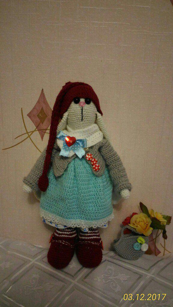 игрушки подарок крючок вязание зайцы ручная handmade работа дети