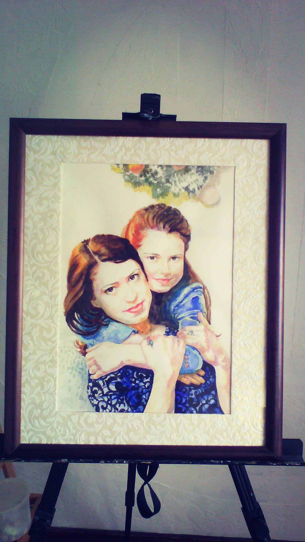 масло по фото живопись акварель портрет подарки