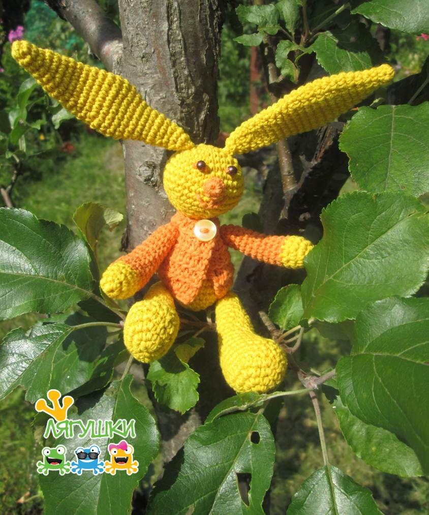 амигуруми softtoy кролик вязанаяигрушка заяц зайка трилягушки hare rabbit солнечныйзайчик amigurumi stuffedtoy