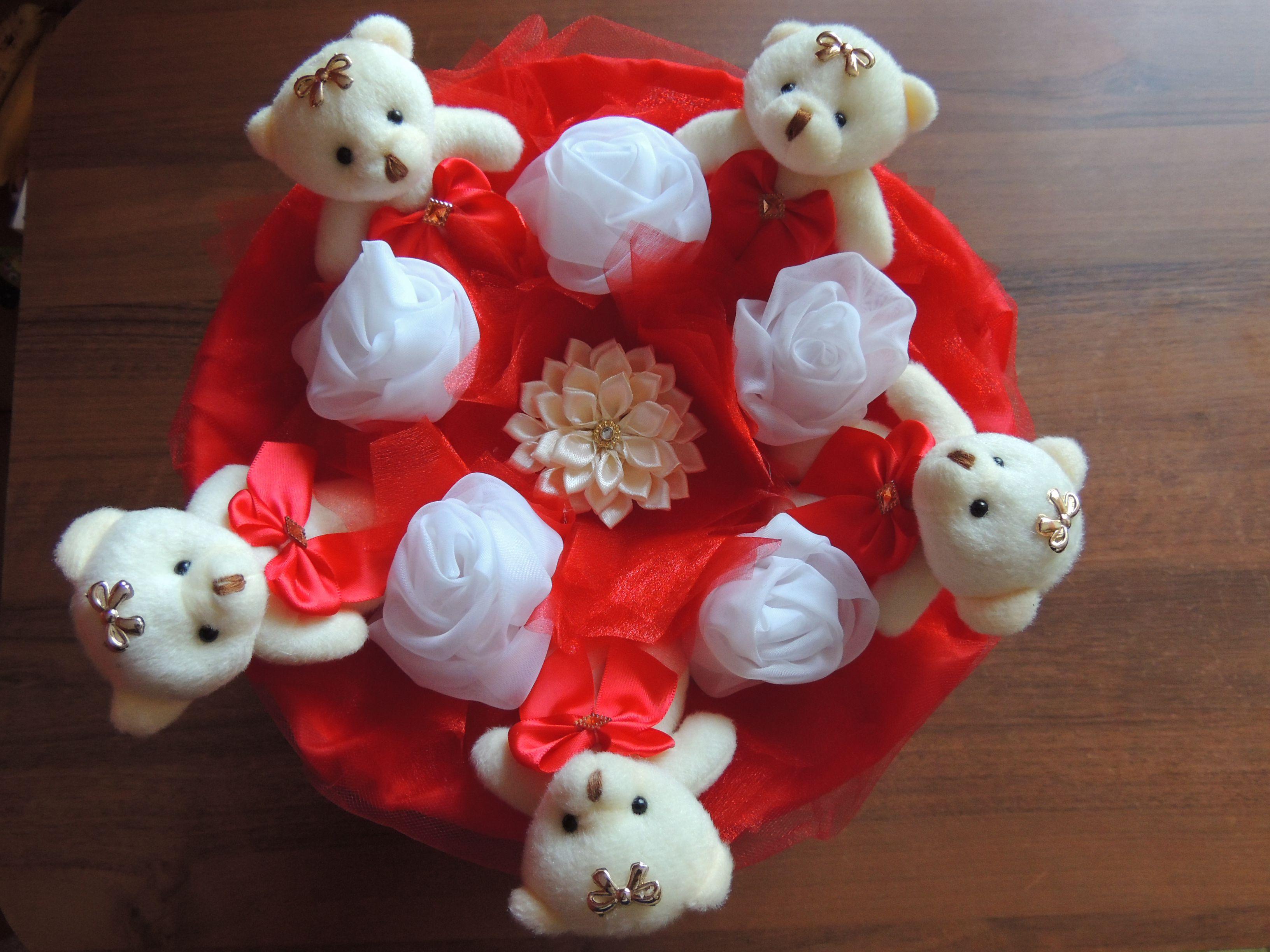 мишки необычный оригинальный букет подарок