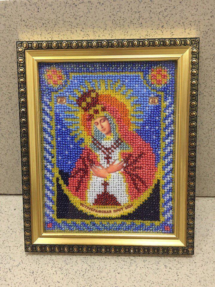 ручнаяработа бисер картина иконабожиейматери остробрамская бисером вышивка икона картинабисером иконабисером вышивкабисером иконы подарок