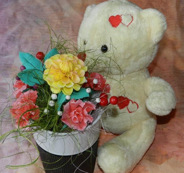 композициямастеркласс осенняя фарфор холодный цветы