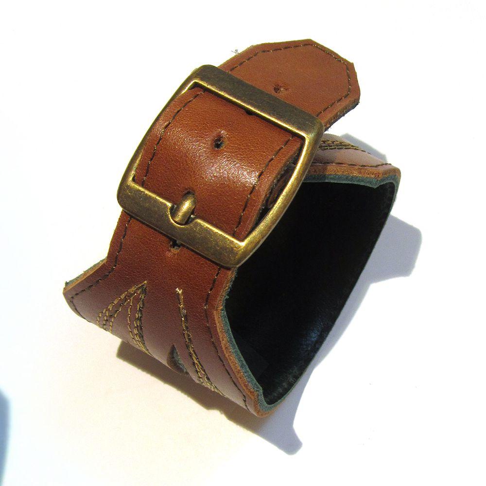 аксессуар эльфы ролевые кожа браслет коричневый подарок