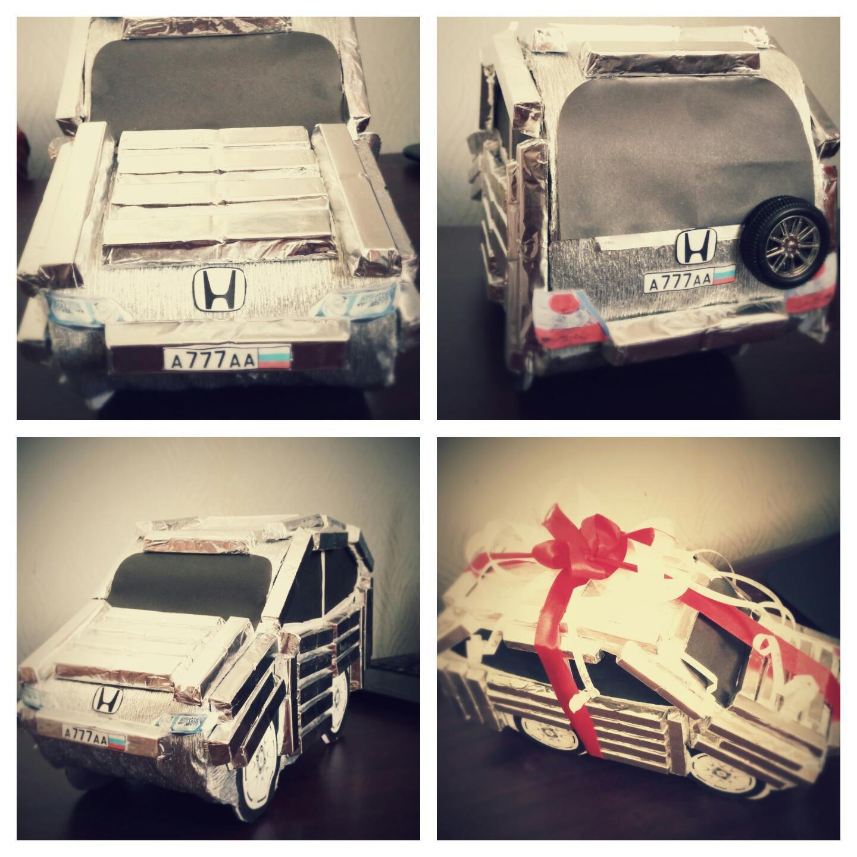 авто шоколад женщине свитдизайн композицияизконфет конфеты мужчине машина подарок