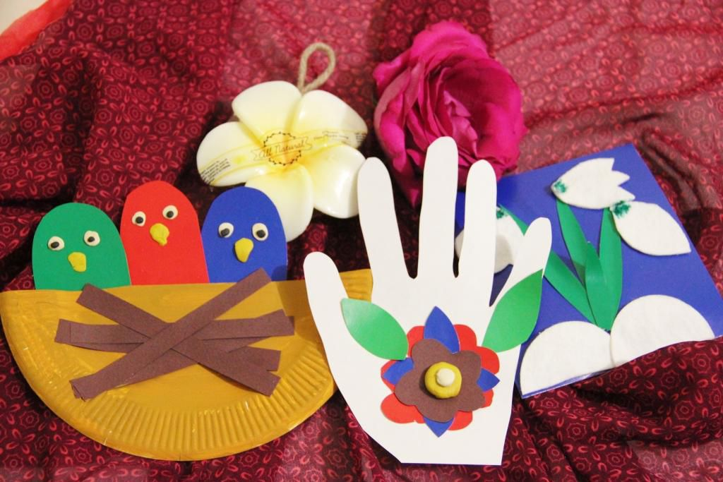 картон пластилин аппликации поделки дети