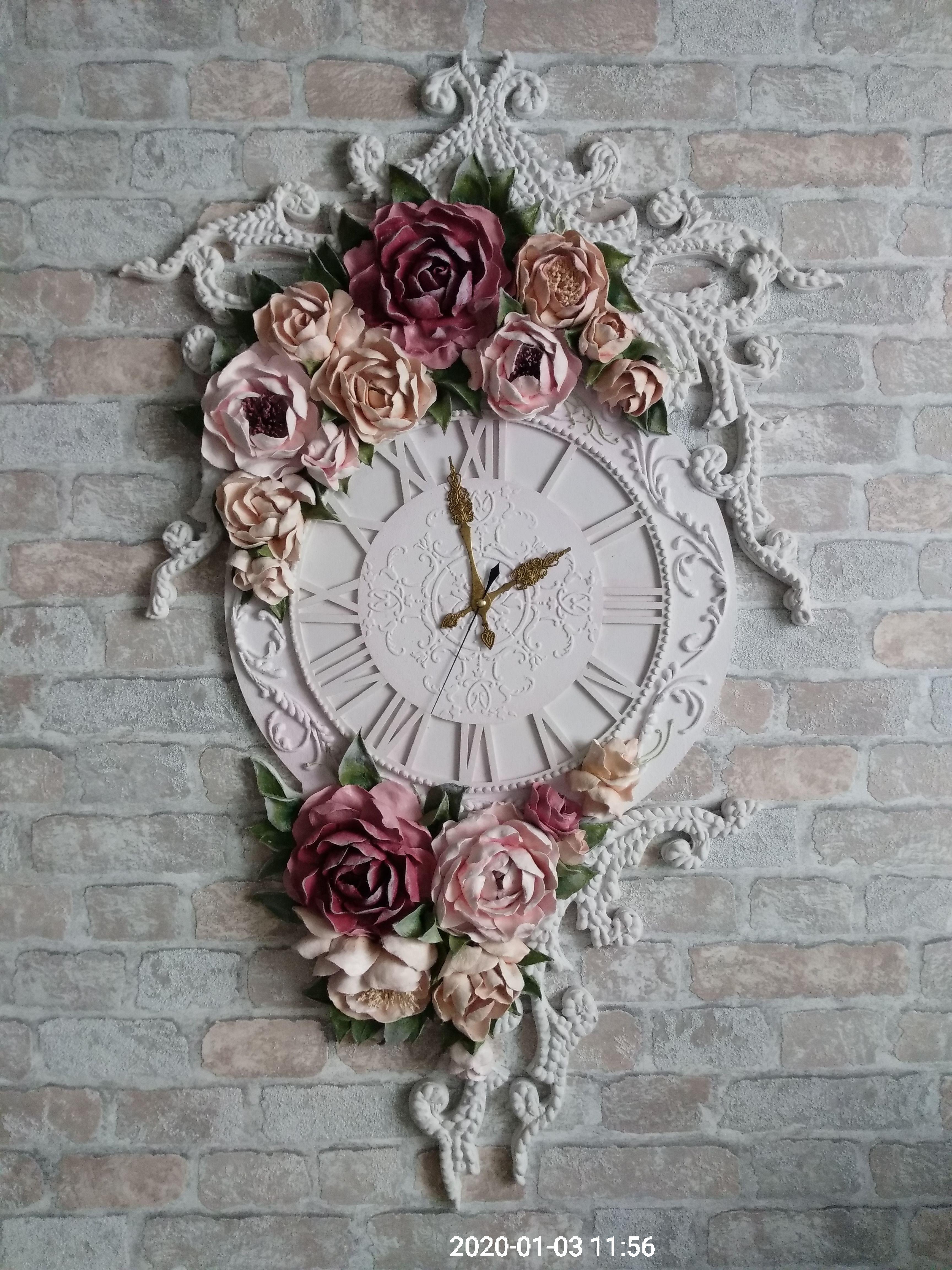 подарок работа ручная уют интерьер прованс дизайн настенные часы шеббишик